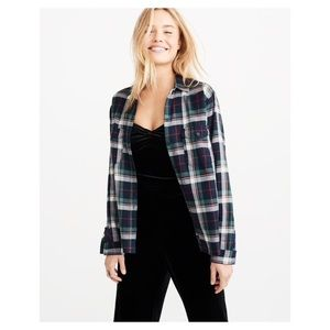 Abercrombie and Fitch plaid button down size xs